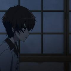 Kouichi wake up from his sleep.