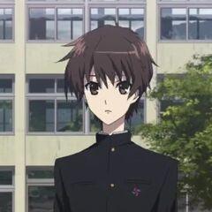 Kouichi at school.