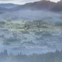 An aerial view of Yomiyama.