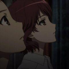 Noburo and Makoto hear Takako's announcement.