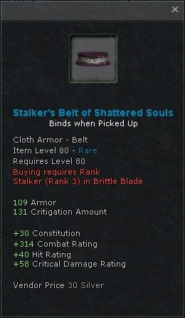 Stalkers belt of shattered souls