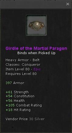 Girdle of the martial paragon