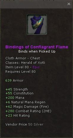 Bindings of conflagrant flame