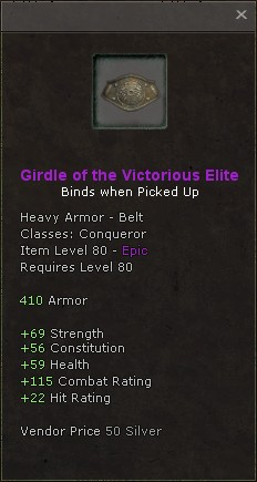 Girdle of the victorious elite