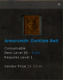 File:Armorsmith Recipe Darkfate Belt 80 rare Atzel Fortress Boss Spymaster.png