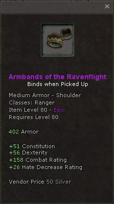 Armbands of the ravenflight