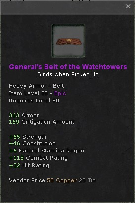 Generals belt of the watchtowers