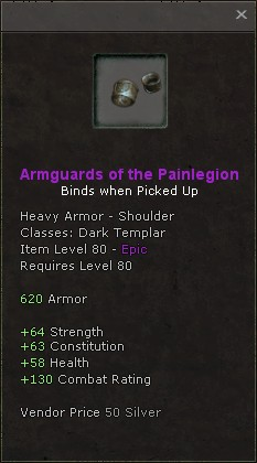 Armguards of the painlegion