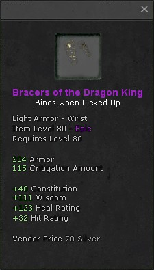 Bracers of the dragon king