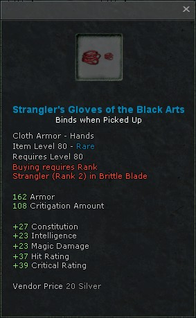 Stranglers gloves of the black arts