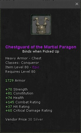 Chestguard of the martial paragon