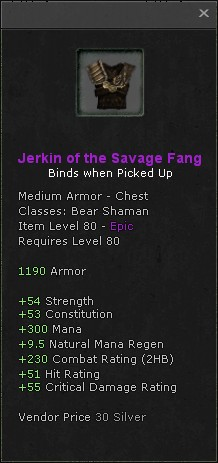 Jerkin of the savage fang