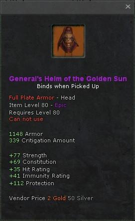 Generals helm of the golden sun
