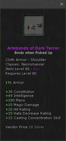 Armbands of dark terror