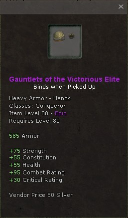 Gauntlets of the victorious elite