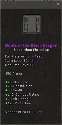 Boots of the black dragon