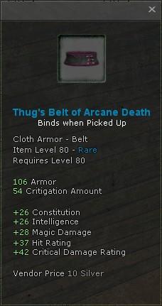 Thugs belt of arcane death