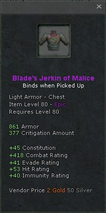 Blades jerkin of malice