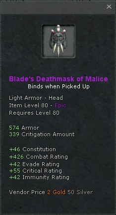 Blades deathmask of malice