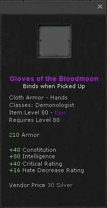 Gloves of the bloodmoon