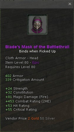 Blades mask of the battlethrall