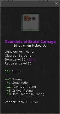 Gauntlets of brutal carnage