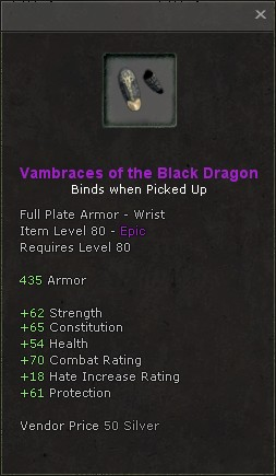 Vambraces of the black dragon