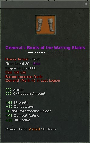 Generals boots of the warring states