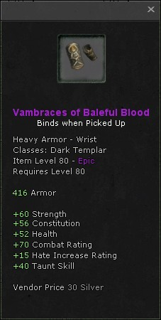 Vambraces of baleful blood