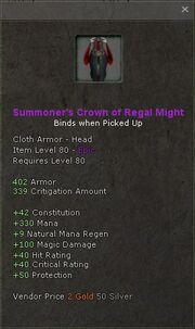 Summoners crown of regal might