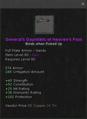Generals gauntlets of heavens pass