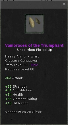 Vambraces of the triumphant