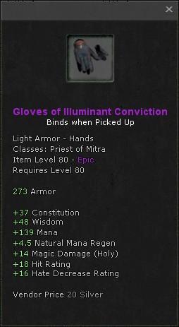 Gloves of illuminant conviction