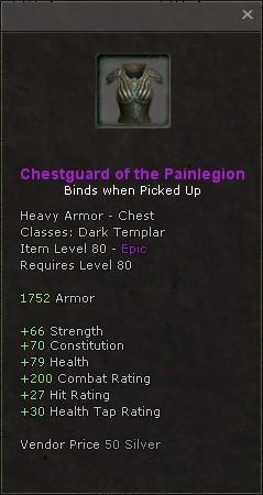 Chestguard of the painlegion