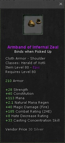 Armband of infernal zeal