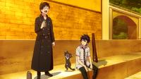 Yukio, Kuro, and Rin sharing catnip wine