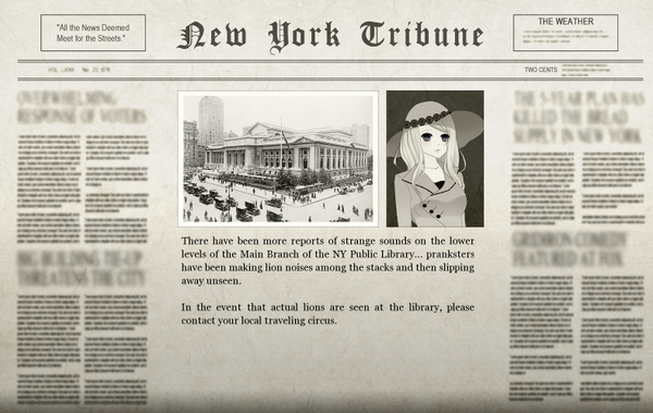 The Library Adventure Newspaper
