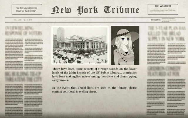 File:The Library Adventure Newspaper.png