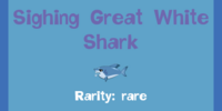 Sighing Great White Shark