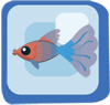 File:Fish Red & Blue Fantail Guppy.png
