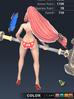 Summer Valle 3D In-Game Model Back Colour 4