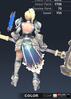 Default Valle 3D In-Game Model Back Clear Colour