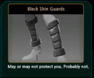 Renoah Black Shin Guards