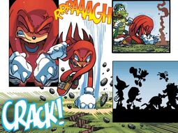 Knuckles Punches Ground