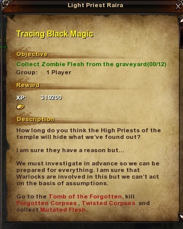 164 Tracing Black Magic Grassy Fields Quest