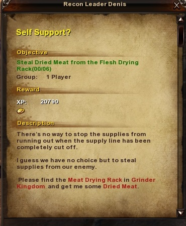 113 Self Support Grassy Fields Quest
