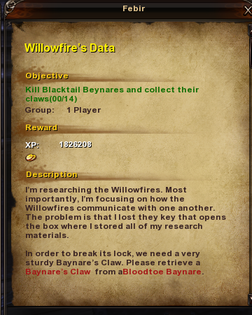 58 Willowfire's Data