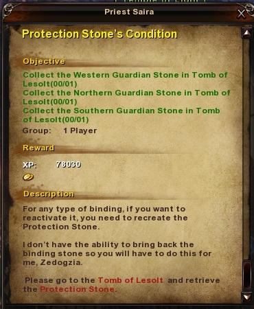 150 Protection Stone's Condition