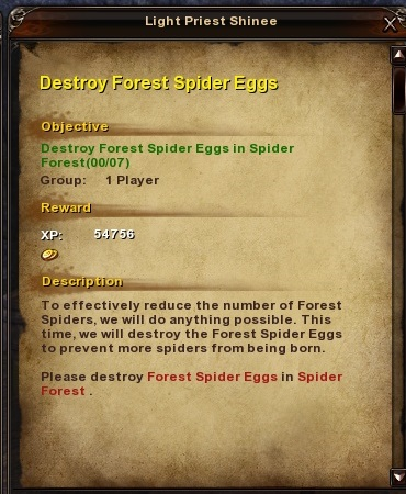 103 Destroy Forest Spider Eggs