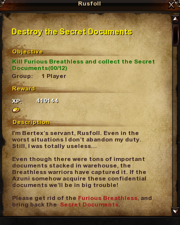 171 Destroy the Secret Documents